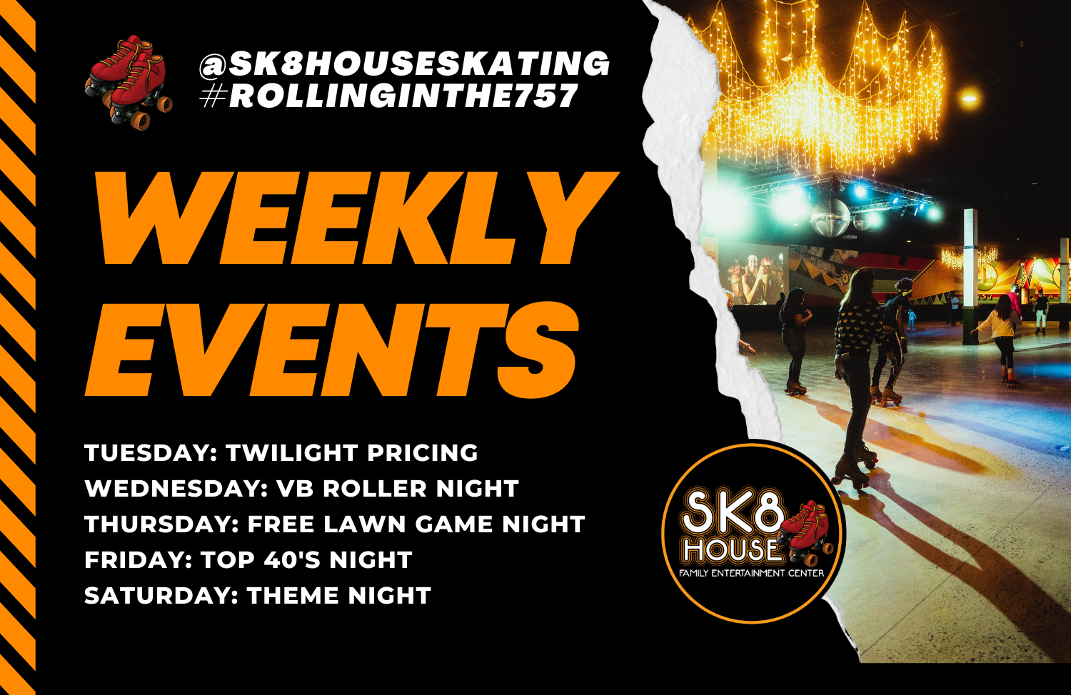 Weekly Events at SK8 House